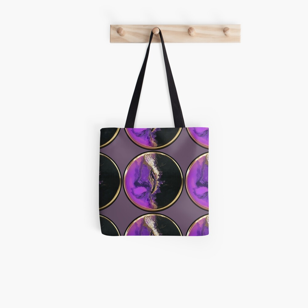 The Clash Abstract Art with Resin Tote Bag