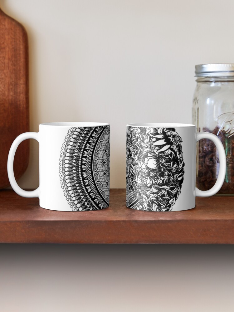 Alternate view of 50Floral Mandala by SimmyGhatt Mug
