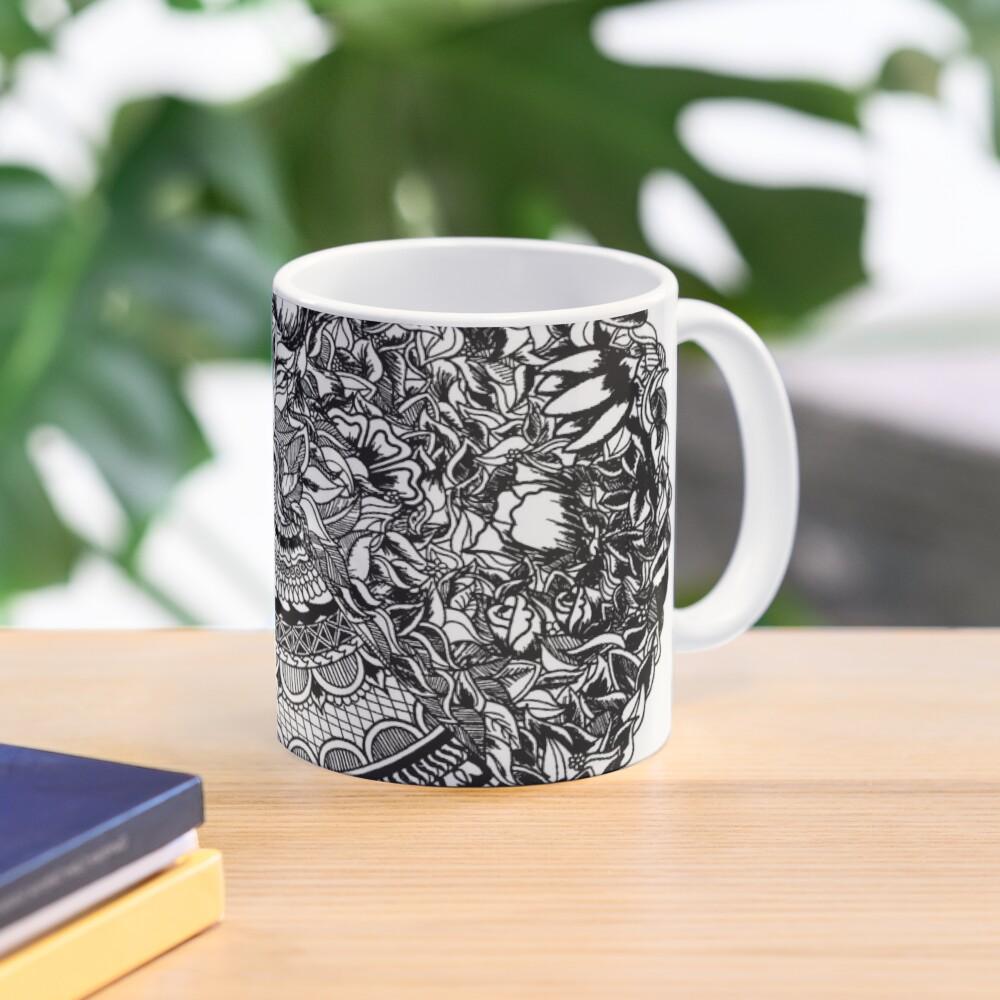 50Floral Mandala by SimmyGhatt Mug