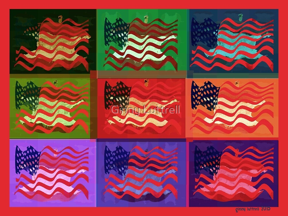 Pop Art USA Flag by Ginny Luttrell
