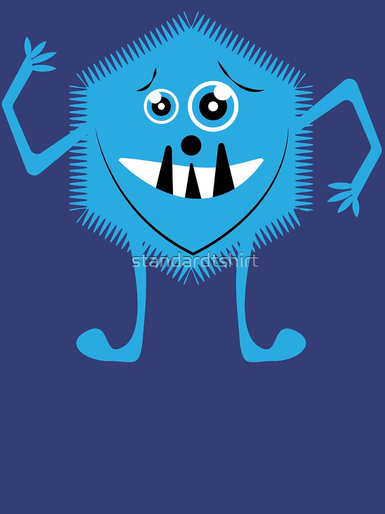 Funny Crazy Face Colorful Funny Monster Cute Monster  by standardtshirt