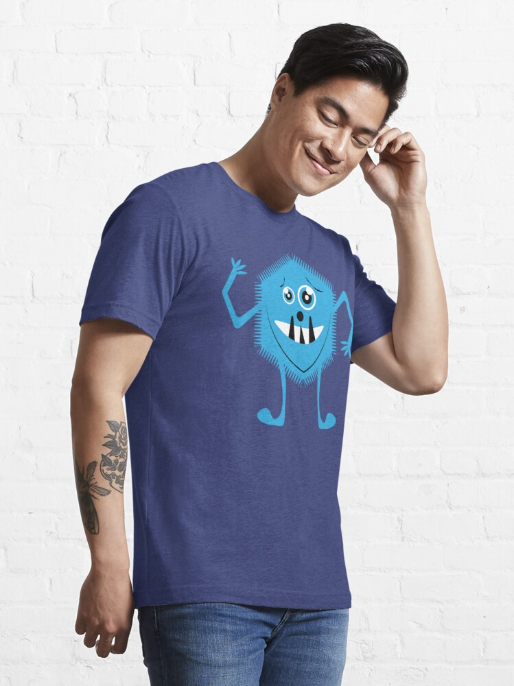 Alternate view of Funny Crazy Face Colorful Funny Monster Cute Monster  Essential T-Shirt