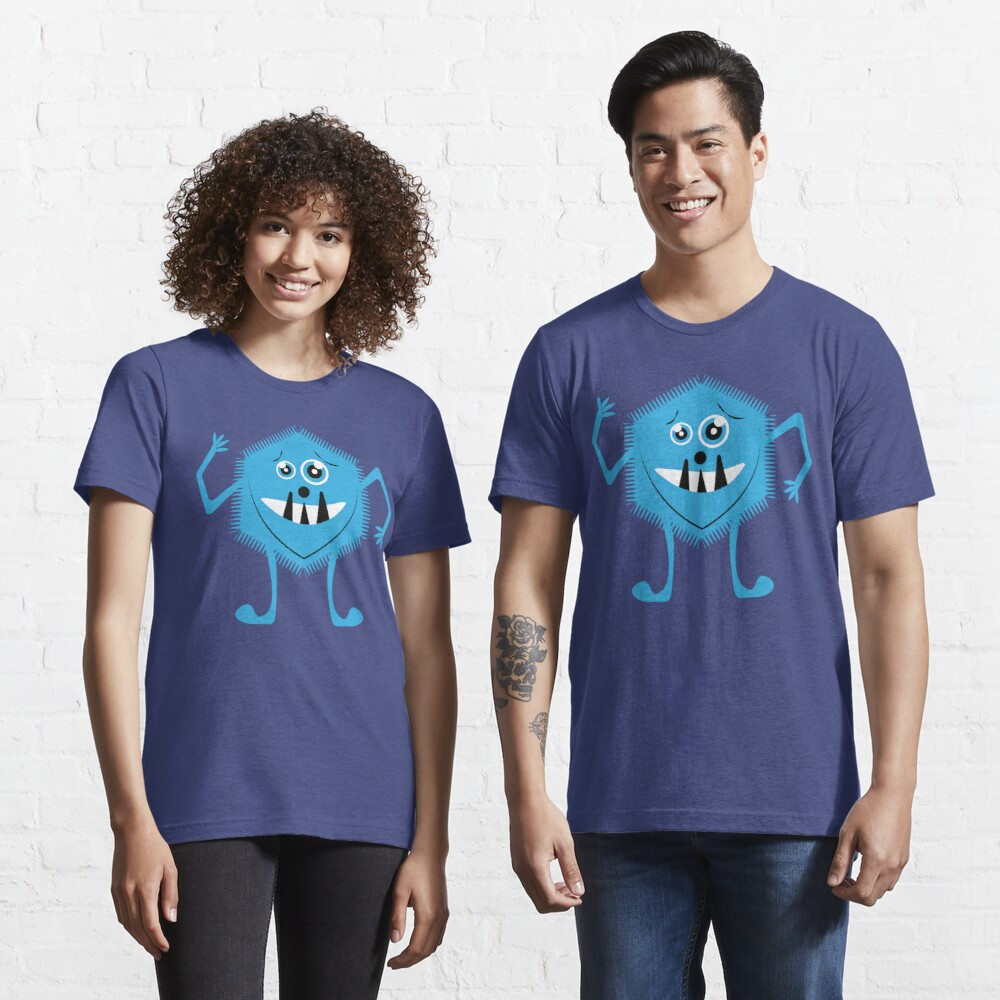 Funny Crazy Face Colorful Funny Monster Cute Monster  Essential T-Shirt