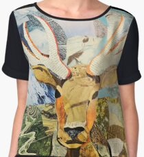 Elk Collage  Chiffon Top