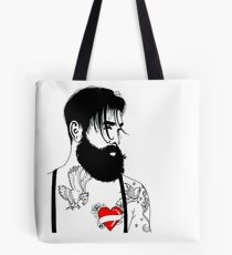 For The Love Of Bearded Men Tote Bag
