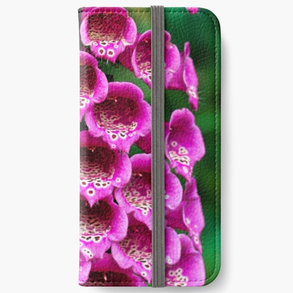 Foxglove Flower iPhone Wallet
