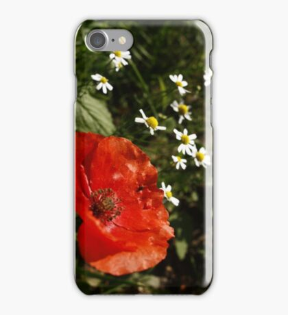 Path side Poppy iPhone Case/Skin