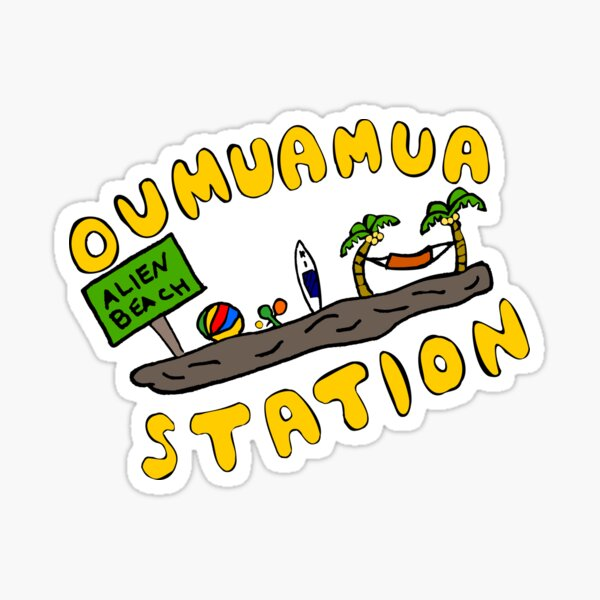 Oumuamua Beach Sticker