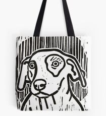 Dog Portrait Linocut  Tote Bag