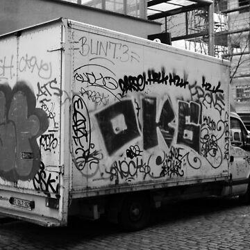 Bruxelles Graffiti Truck by KRAPUUL