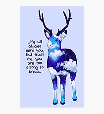 """You Are Too Strong to Break"" Night Sky Deer Photographic Print"