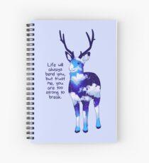 """Cuaderno de espiral """"Eres muy fuerte para romper"""" Night Sky Deer"""