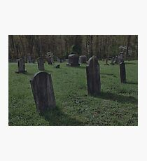 """"""" 'THE CEMETERY', a Series, #2, Shadows """" Photographic Print"""