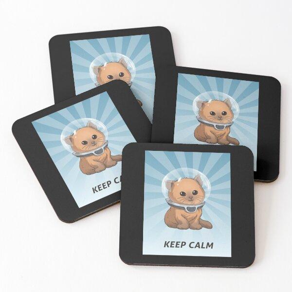 """Keep Calm Kitty"" Coasters (Set of 4)"