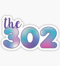 The 302 Area Code Sticker