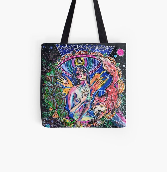 What the fox All Over Print Tote Bag