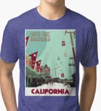 Vintage Travel Poster Santa Cruz Tri-blend T-Shirt
