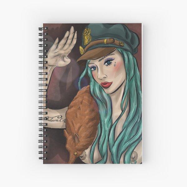 Scarlett's Salute Spiral Notebook