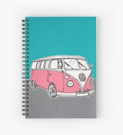 VW Camper Van ( Pink ) Spiral Notebook