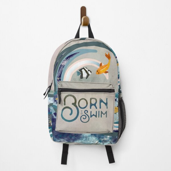 Calling all wild open water swimming, winter bathers. Art Deco Born to swim Backpack
