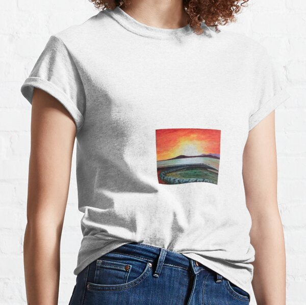 Famous Morecambe Sunset by Hughie Davies Classic T-Shirt