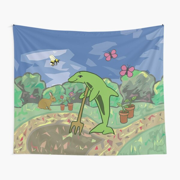 Gardening Dolphin by Moti for the West Braes Project Tapestry