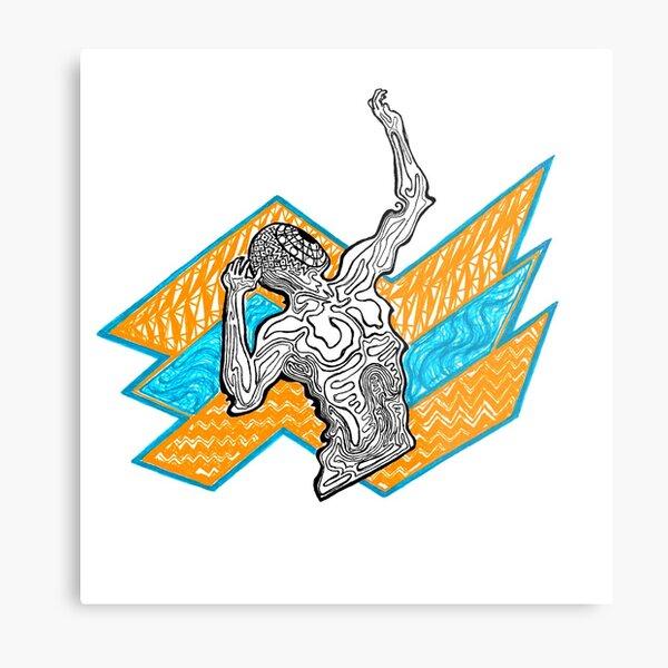 An Emotional Pose (Stretching, Reaching, Cowering) Metal Print