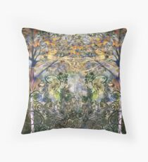 Fiddlehead, the dream in the forest Throw Pillow