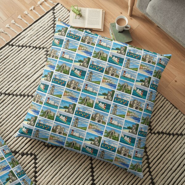 Isle of Wight landscapes Floor Pillow