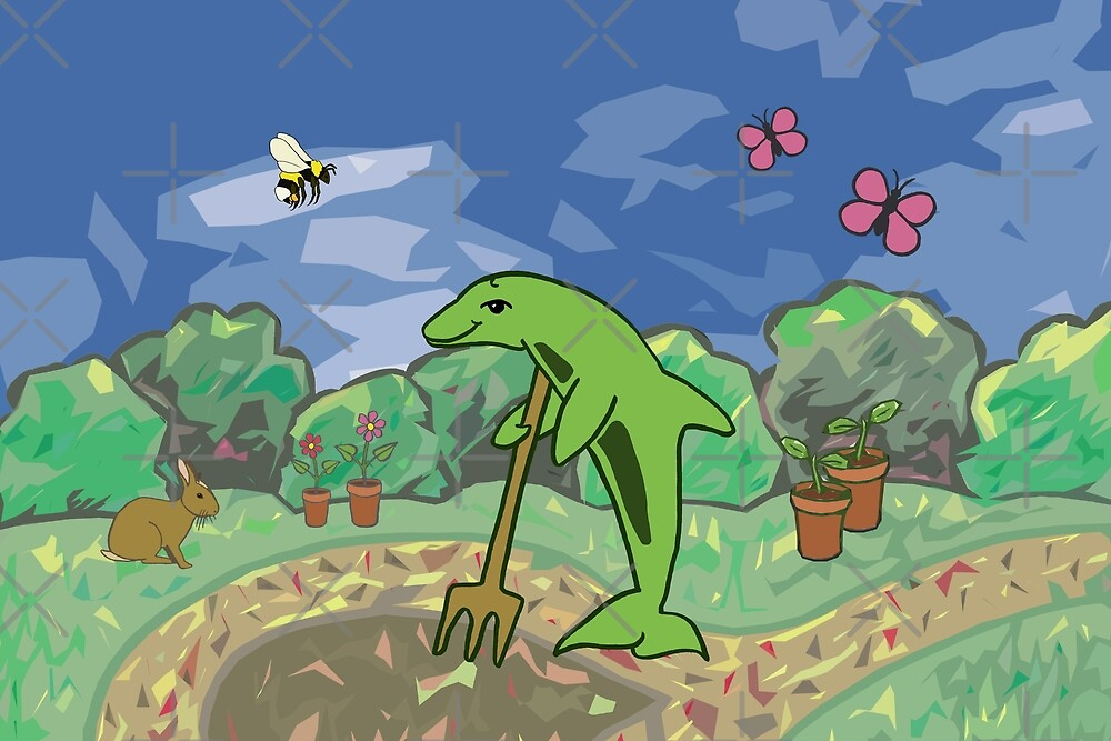 Gardening Dolphin by Moti for the West Braes Project by pittedant