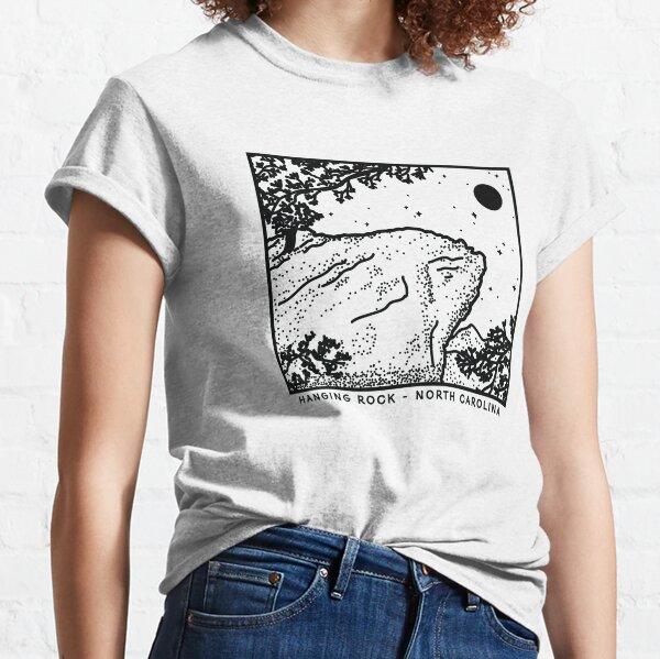 Hanging Rock Mountain North Carolina - Black Classic T-Shirt