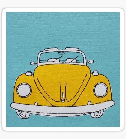 Yellow Beetle Sticker
