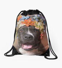 Flower Power, Angel smiling Drawstring Bag