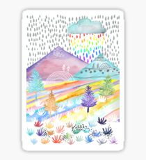 Watercolour Landscape Sticker