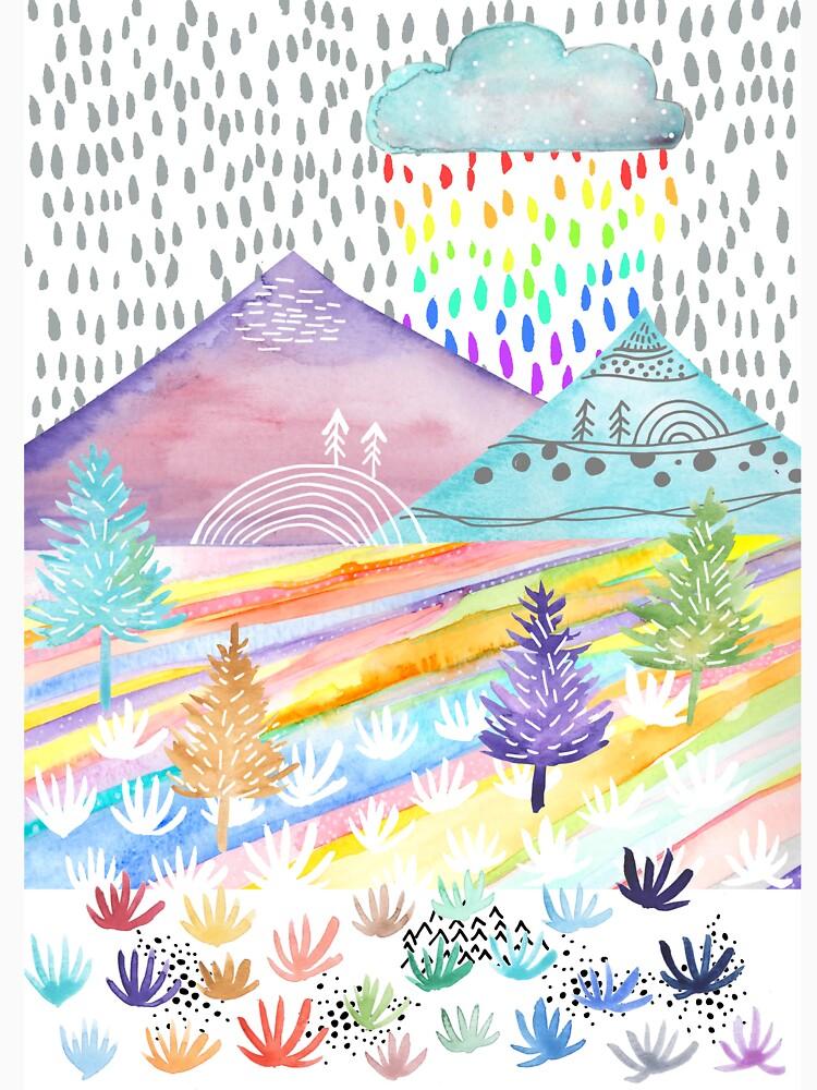 Watercolour Landscape by emmaallardsmith