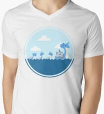 Lapras and kids Men's V-Neck T-Shirt
