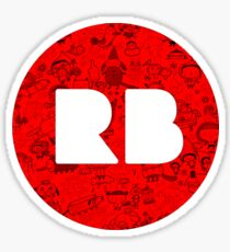 RedBubble, RB, Doodle, logo Sticker