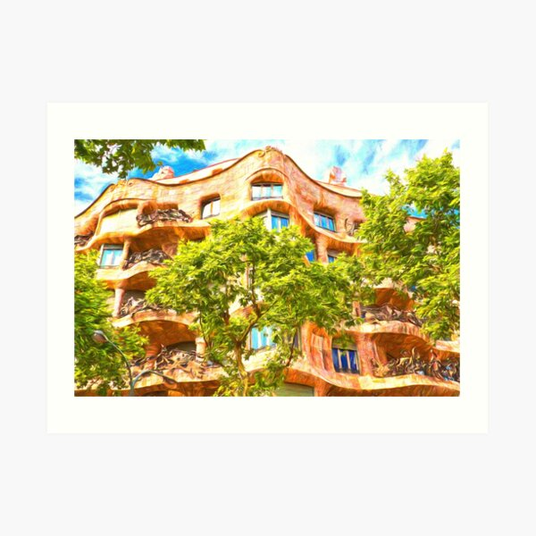 Casa Mila Gaudi Barcelona Art Print