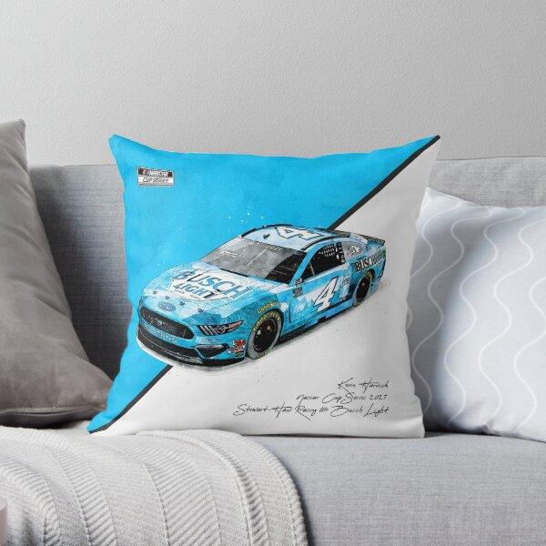 Kevin Harvick NASCAR 2021 Busch Light Car Throw Pillow