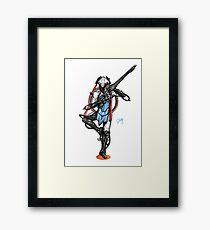 Warframe - Nezha Framed Print