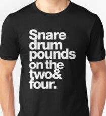 Prince - Snare Drums Pound on the Two & Four Unisex T-Shirt