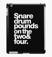 Prince - Snare Drums Pound on the Two & Four iPad Case/Skin