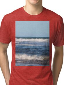 Waves and distant headlands in Queensland Tri-blend T-Shirt