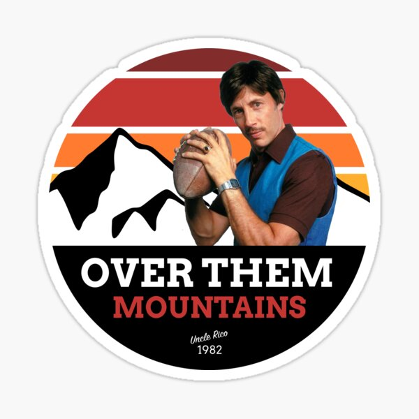 Over Them Mountains Sticker