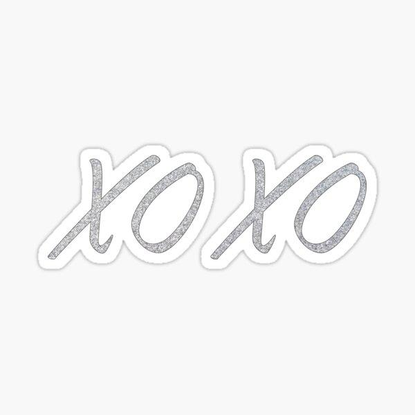 XOXO Glitter Sticker