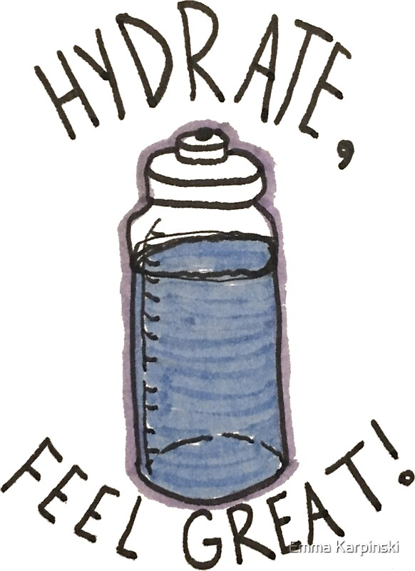 """Hydrate- Feel Great!"" Stickers by Emma Karpinski 