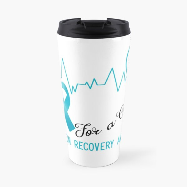 Hope For A Cure Addiction Recovery Awareness Travel Mug