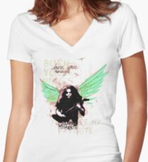 Burn Your Wings Women's Fitted V-Neck T-Shirt