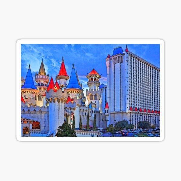 Excalibur towers, Las Vegas Sticker