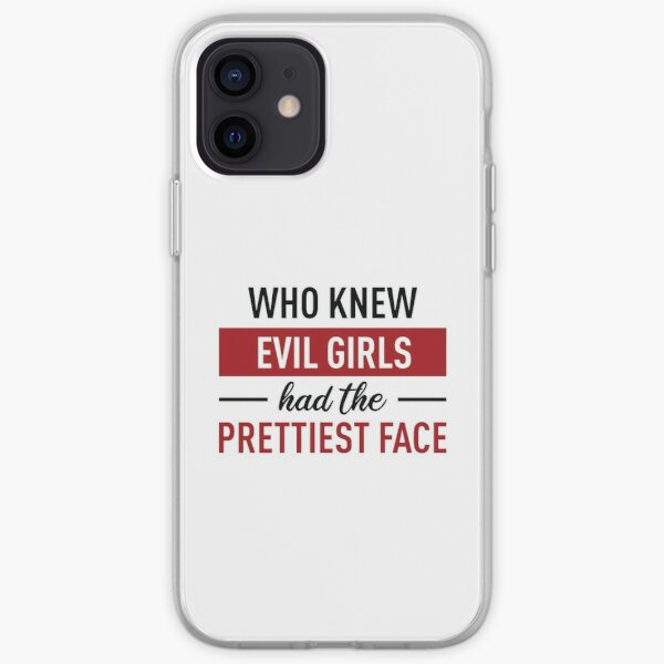 Who Knew Evil Girls Had The Prettiest Face (Red and Black) iPhone Soft Case